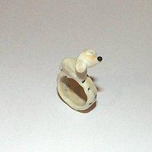 Prstene - Sklenený prsteň - 8680952_