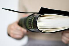 - Ručne viazaný kožený zápisník Gabriel - 8678680_