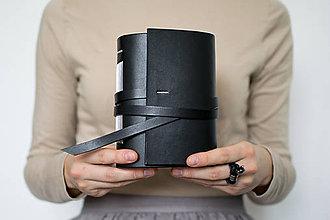 Papiernictvo - Ručne viazaný kožený zápisník Ondrej - 8678635_