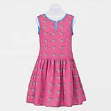 Šaty - Vtáčikové šaty - červienka - 8679771_