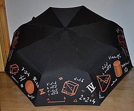 Iné doplnky - Maľovaný dáždnik - matematika - 8678114_