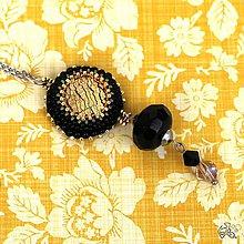 Náhrdelníky - Golden black přívěšek - 8681169_
