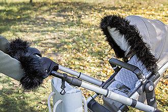 Textil - Kožušinka na striešku ČIERNA - 8687011_