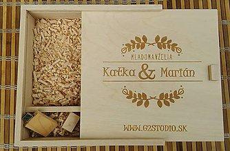 Krabičky - Drevená krabička na foto a USB - 8686026_