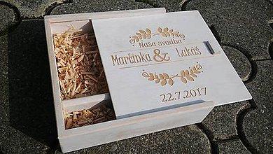 Krabičky - Drevená krabička na foto a USB (provensál) - 8686086_