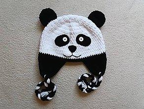Detské čiapky - Plyšová panda :) - 8682730_