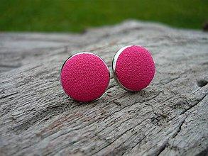 Náušnice - Náušnice Buttonky Růžové - 8687026_