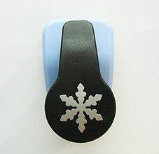 Pomôcky/Nástroje - Dierovačka na hrubší papier, moosgummi - 25 mm, vločka, zima - 8685450_