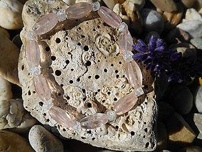 Náramky - Rosa sweet tíme With kristall - 8684209_