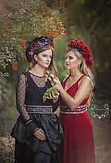 Exkluzívny červený ľudový opasok z kolekcie Black&Red folk