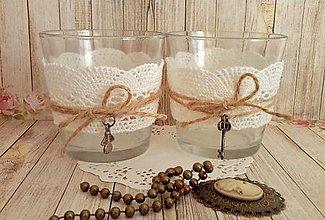Svietidlá a sviečky - romantický svietnik - 8683289_