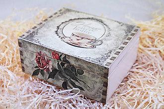 Krabičky - HM - Krabička na čaj - 4 priehradková - 8686336_
