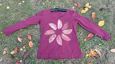 Tričká - tričko maľované - jesenné listy - 8685148_