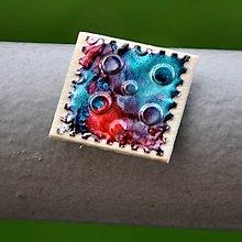Magnetky - Magnetka Štvorec známka 5 - 8685291_