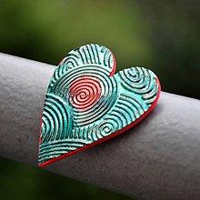 Magnetky - Magnetka Srdce vír - 8685560_