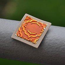 Magnetky - Magnetka Oranžový štvorček - 8685571_