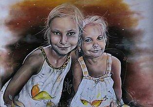 Kresby - Sestričky 2-portrét - 8684910_