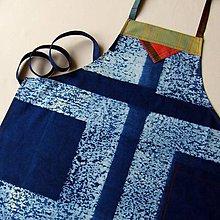 Iné oblečenie - STRUKTURY - modrotisková zástěra - 8687309_