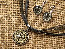 """Sady šperkov - Súprava náušnice + náhrdelník """"oceľ a rhodium"""" - 8686674_"""