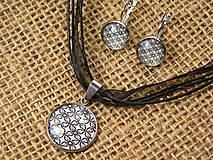 """Sady šperkov - Súprava náušnice + náhrdelník """"oceľ a rhodium"""" - 8686799_"""