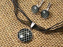 """Sady šperkov - Súprava náušnice + náhrdelník """"oceľ a rhodium"""" - 8686925_"""
