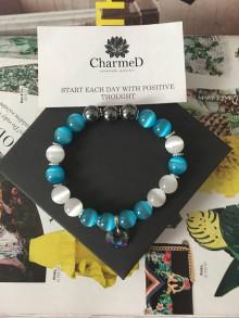 Náramky - Tyrkysový slnečný náramok SunCat / Turquoise Bracelet SunCat - 8685438_