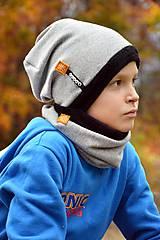 Detské súpravy - Zimný set OBOJSTRANNÝ s menom Snow flakes - 8687000_