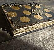 Papiernictvo - Luxusný čiernozlatý diár 2018-2019 týždenný do kabelky/vymeniteľný obsah - 8684613_