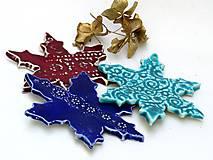 Dekorácie - ozdoba vianočná vločka modrá - 8684126_