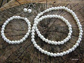 Sady šperkov - Perlová sada (Čierna) - 8683968_