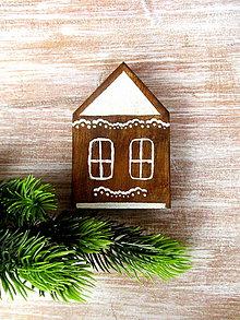 Dekorácie - Drevený perník - domček - 8684189_