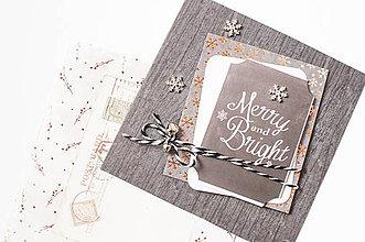 """Papiernictvo - Vianočná pohľadnica """"vločka"""" - 8684456_"""