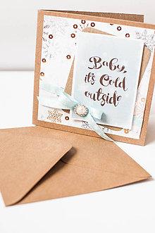 """Papiernictvo - Vianočná pohľadnica """"je chladno"""" - 8684550_"""
