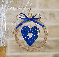 Dekorácie - Heart dots natur - 8685671_