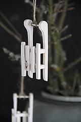 Dekorácie - Sánky biela patina - 8691875_