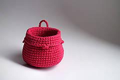 Košíky - Košík - Červeno-ružový | na zavesenie - 8690754_