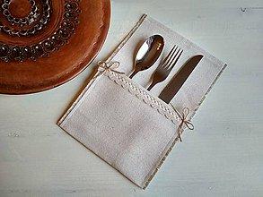 Úžitkový textil - Romantické prostírání Ivory Love na příbor - 8692034_
