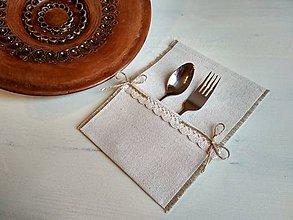 Úžitkový textil - Romantické prestieranie Ivory Love na dezert. príbor - 8692052_