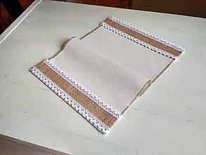 Úžitkový textil - Romantické prestieranie Ivory Love s jutou - 8692085_