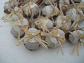 Dekorácie - Vianočné oriešky Ivory Love - 8692301_