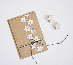 Papiernictvo - Vianočný pozdrav - snehové vločky - 8690724_
