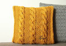 Úžitkový textil - Vankúš horčicový. - 8689060_
