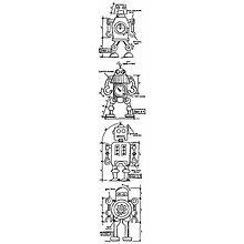 Pomôcky/Nástroje - Gumené razítko Tim Holtz Stamp - Robot - 8692012_