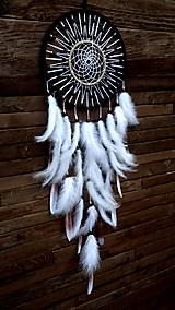Dekorácie - Lapač snov -Biely lúč II. - 8687490_