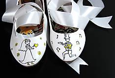Obuv - svadobné balerínky pre hudobníkov - 8691353_