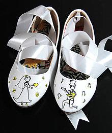 Obuv - svadobné balerínky pre hudobníkov - 8691350_