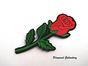 Galantéria - Nažehľovačka Kvet 50x107 mm - 8690476_