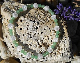 Náramky - avanturina a cristallo,avanturín,krištáľ - 8688710_