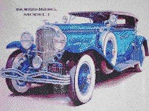 Obrazy - Modré retro auto veterán - 8689375_