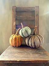 Dekorácie - Tři tykve -  podzimní barvy - 8690153_